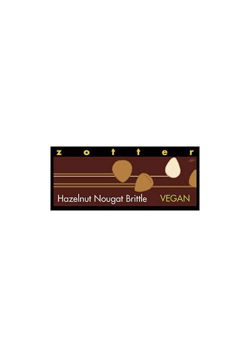 Zotter Hazelnut Nougat Brittle - Vegan