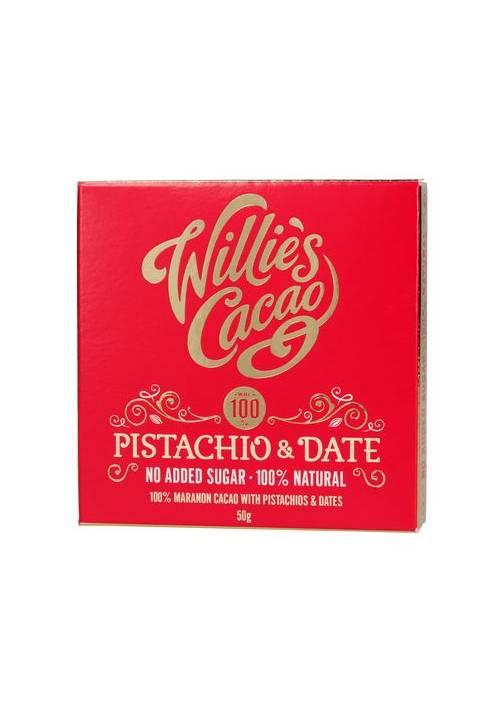 Willie's Cacao 100% Pistachio & Date (daktyle, migdały, pistacje)
