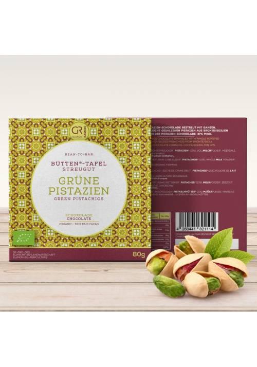 Georgia Ramon Bütten-Tafel biała czekolada z pistacjami