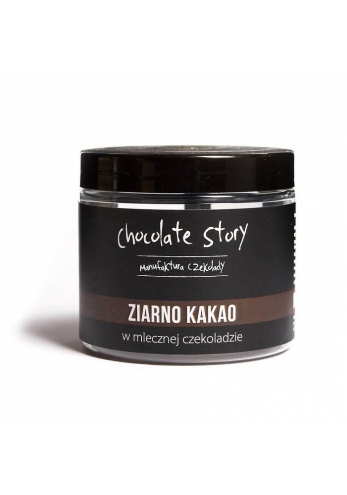 Ziarna kakao w mlecznej czekoladzie - 120g - Chocolate Story