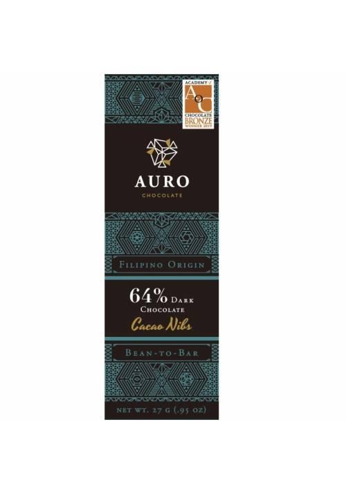 Auro ciemna czekolada 64% z nibsami