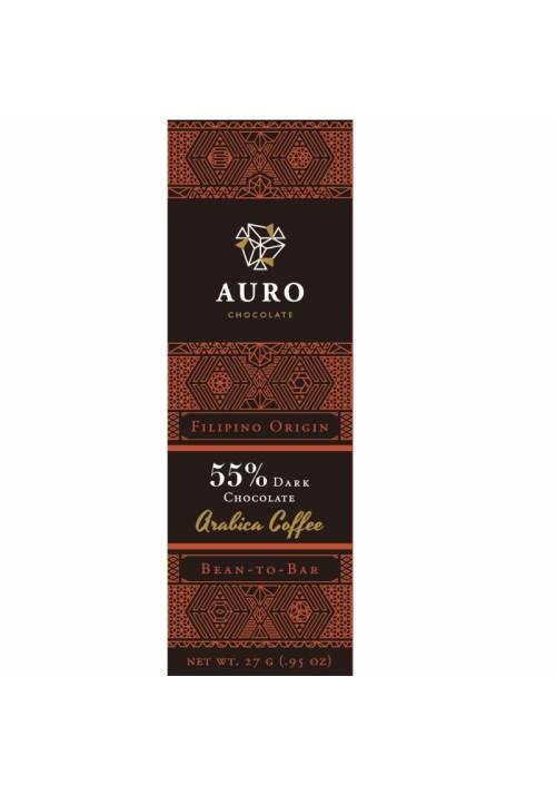 Auro ciemna czekolada 55% z kawą Benguet arabica