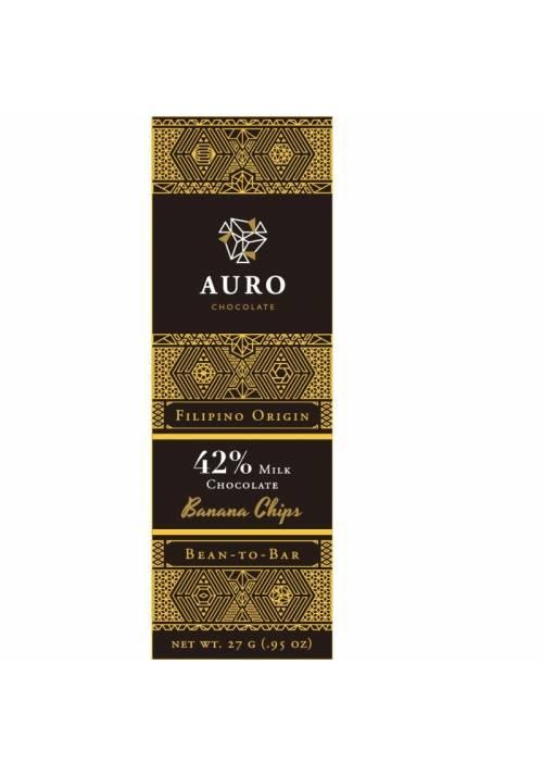 Auro mleczna czekolada 42% z bananem