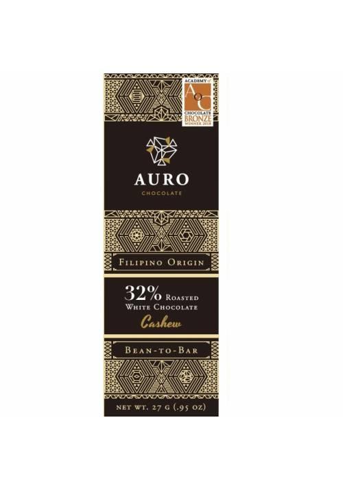 Auro biała czekolada 32% z orzechami nerkowca