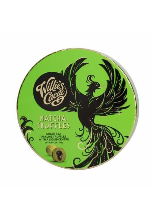 Willie's Cacao Białe trufle z matchą