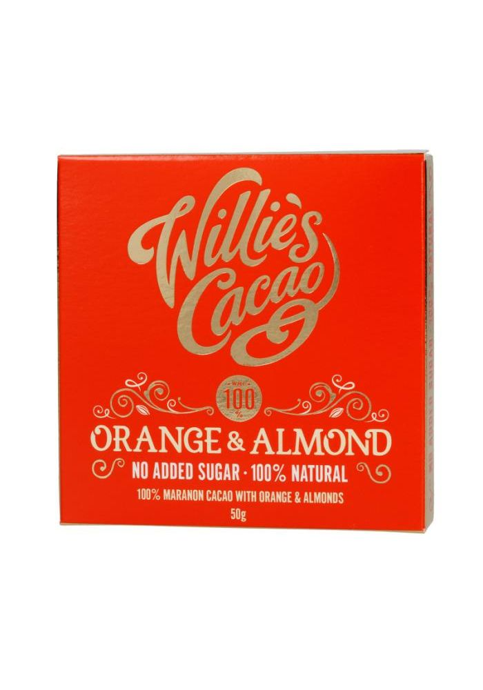 Willie's Cacao 100% Orange & Almond