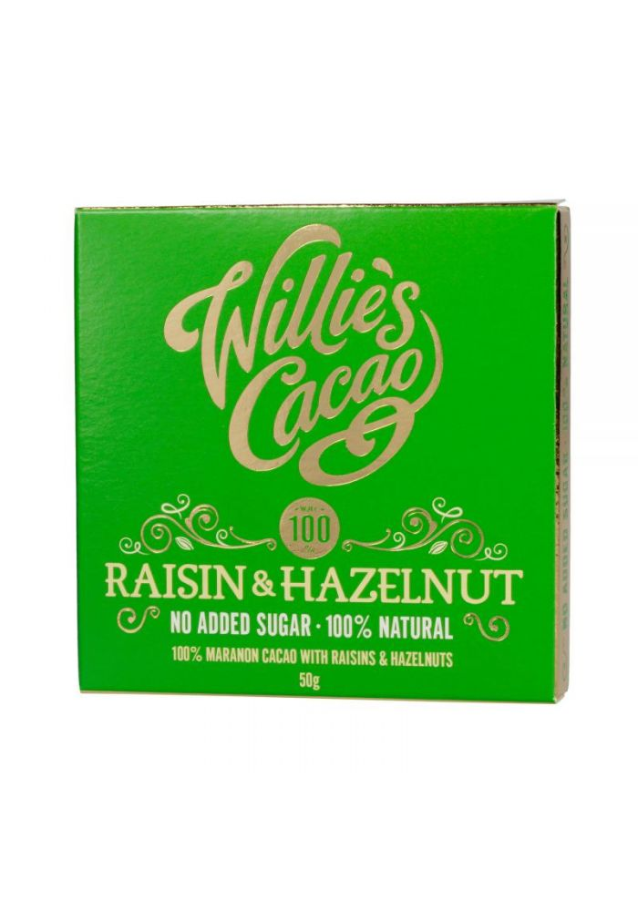 Willie's Cacao 100% Raisin & Hazelnut