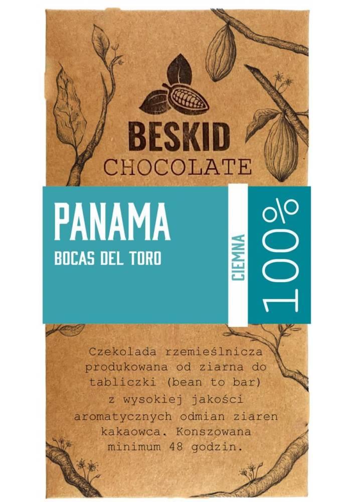Beskid Panama Bocas del Toro Bio 100% - polska czekolada 100% z ziaren kakao z Panamy