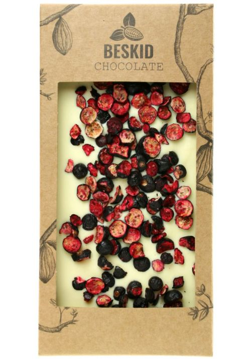 Biała czekolada z czarną porzeczką - Beskid Chocolate