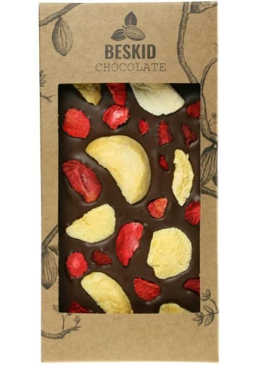 Mleczna czekolada z morelami i truskawkami - Beskid Chocolate