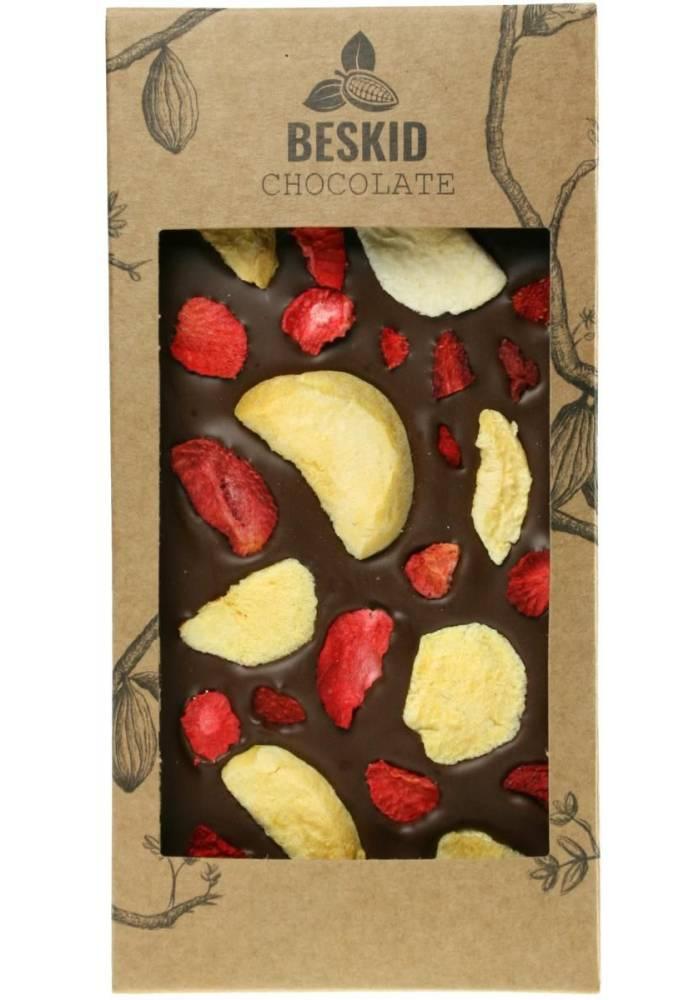 Mleczna czekolada z truskawką i morelą - Beskid Chocolate