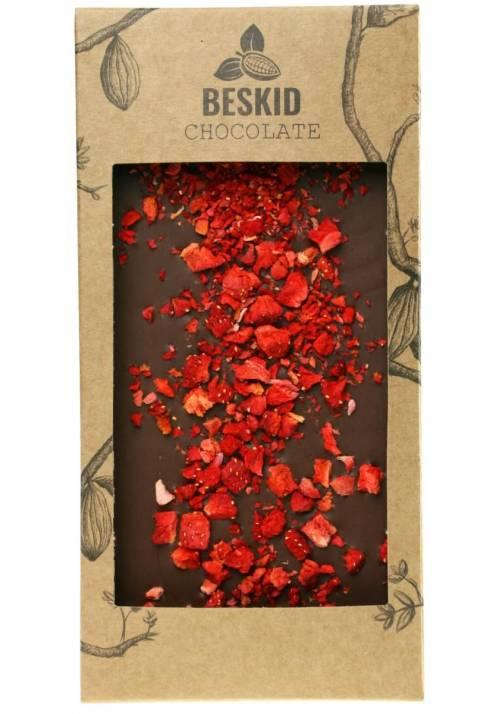 Mleczna czekolada z truskawkami - Beskid Chocolate