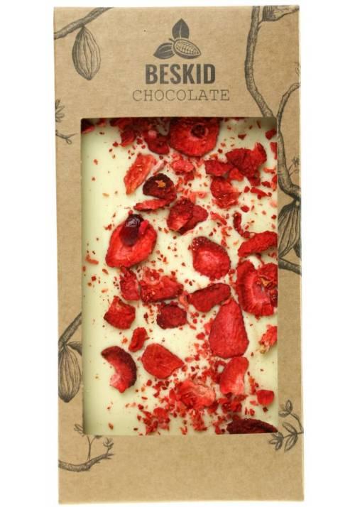 Biała czekolada z truskawkami - Beskid Chocolate
