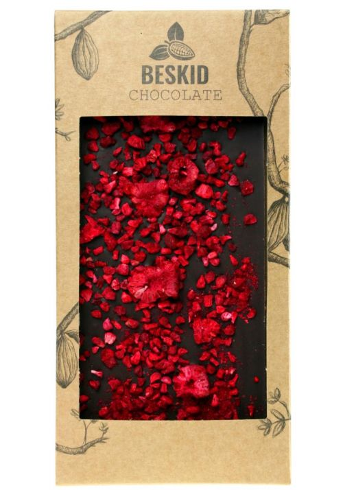 Ciemna czekolada z malinami i papryczką chili - Beskid Chocolate