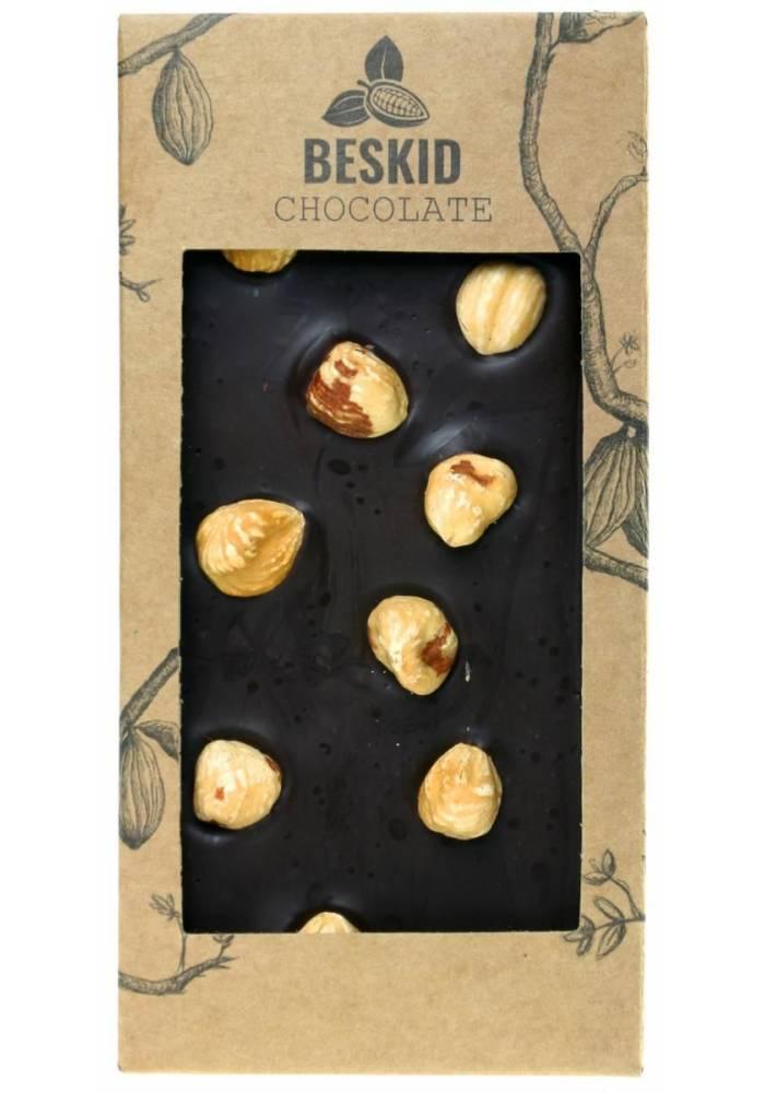 Ciemna czekolada z polskim orzechami laskowymi - Beskid Chocolate