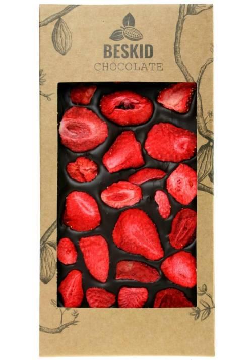Ciemna czekolada z truskawkami - Beskid Chocolate