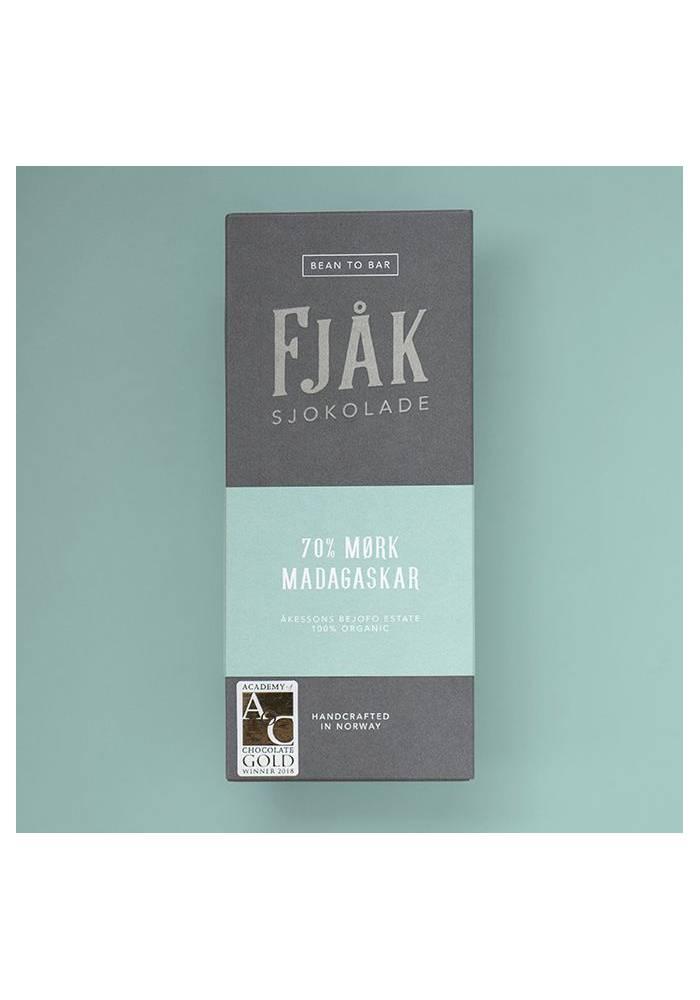 Fjåk Sjokolade Ciemna 70% Madagaskar Akesson's Estate