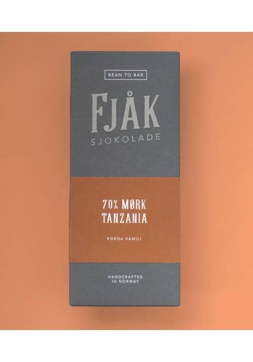 Fjåk Sjokolade Ciemna 70% Tanzania Kokoa Kamili