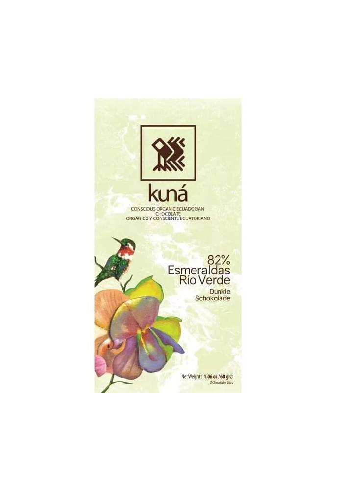 Kuná 82% Rio Verde Esmeraldas 2x30g