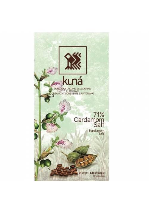 Kuná 71% Kardamon i Sól 60g