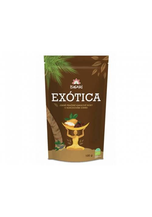 NIbsy kakaowe w cukrze kokosowym Iswari Exotica
