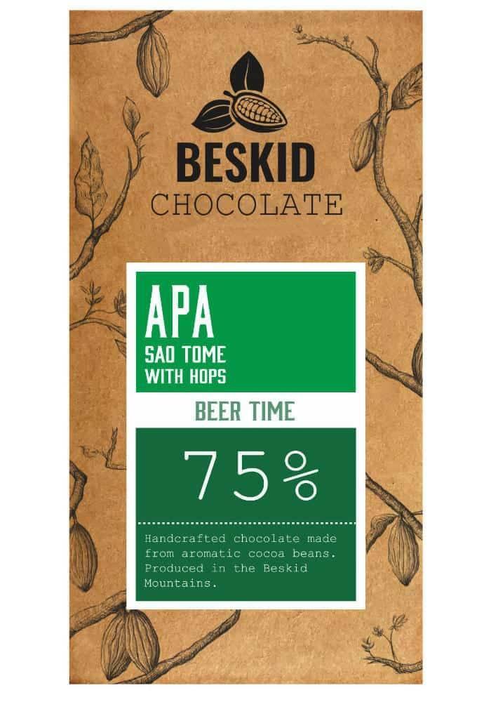 Beskid Sao Tome 75% czekolada z chmielami w stylu American Pale Ale