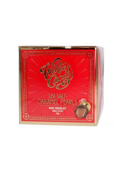 Willie's Cacao Sea Salt Caramel Pearls (czekoladki - słony karmel)