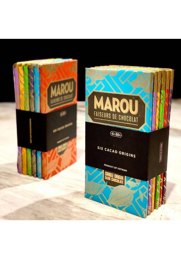Marou Six Origins - sześć mini-tabliczek z wietnamskiego kakao