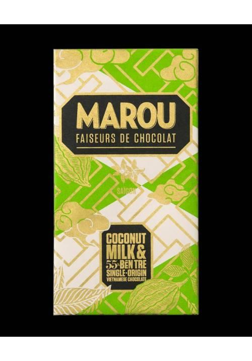 Marou z mlekiem kokosowym - Ben Tre 55%