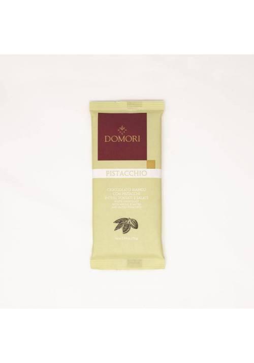 Domori Pistacchio biała czekolada z całymi pistacjami