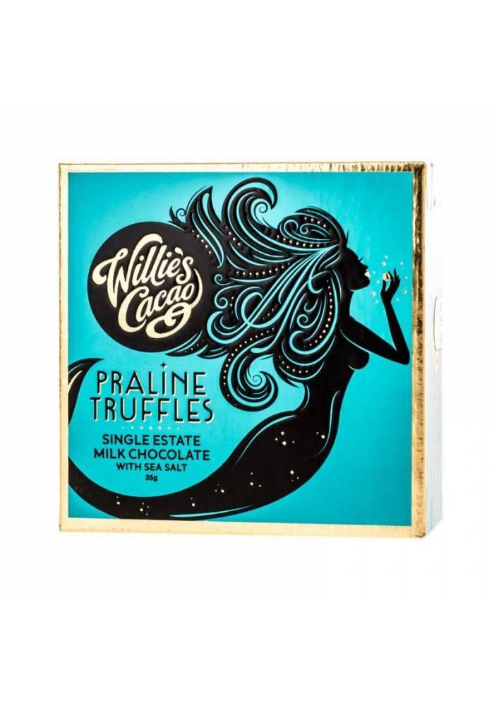 Willie's Cacao Mleczne orzechowe trufle z solą morską