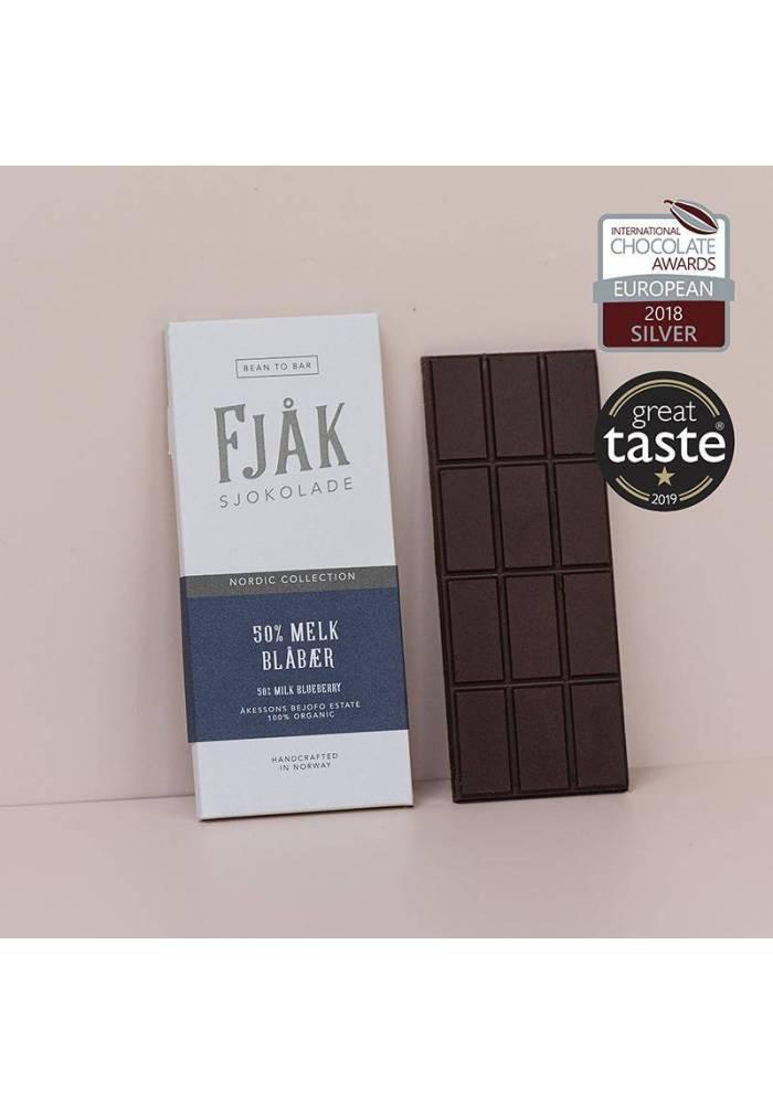 Fjåk Sjokolade mleczna czekolada jagodowa