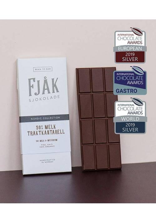Fjåk Sjokolade Mleczna 45% z pieprznikiem trąbkowym