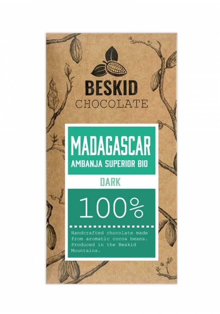 Beskid Madagaskar Ambanja Superior Bio 100% - czekolada 100% kakao