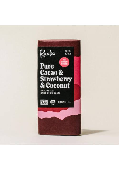 Raaka 80% Pure Cacao & Strawberry & Coconut (truskawka i kokos)