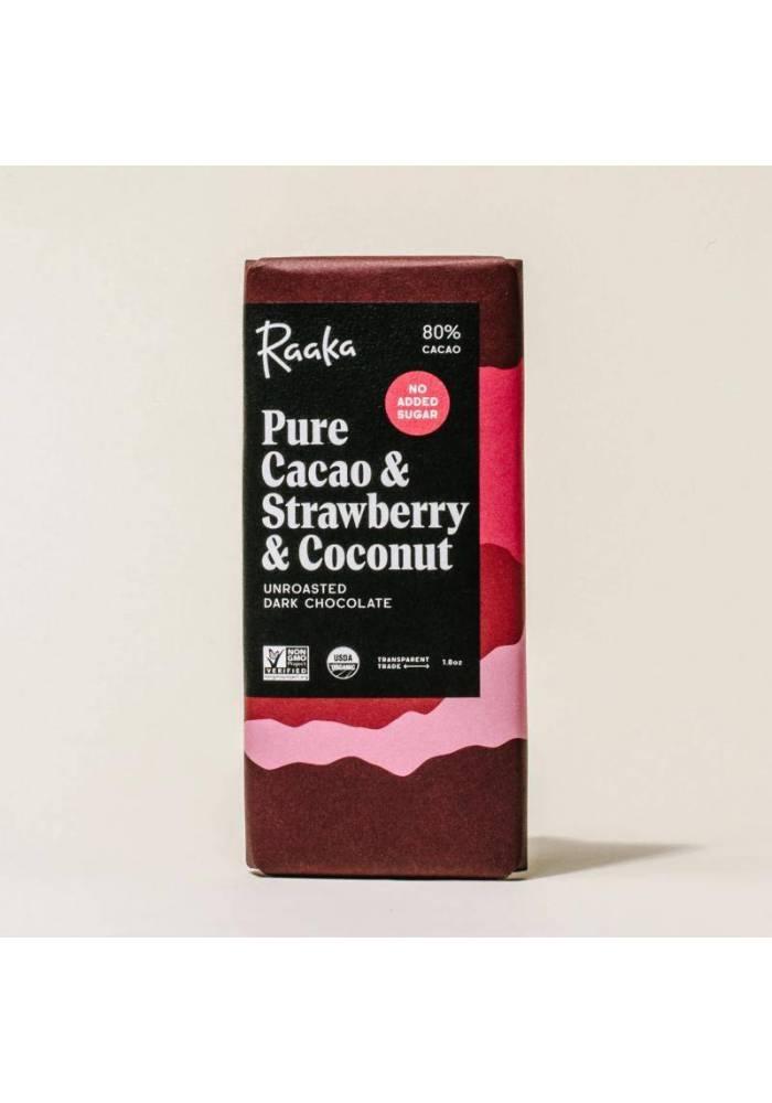 Raaka 80% Pure Cacao & Strawberry & Coconut (truskawka i kokos)