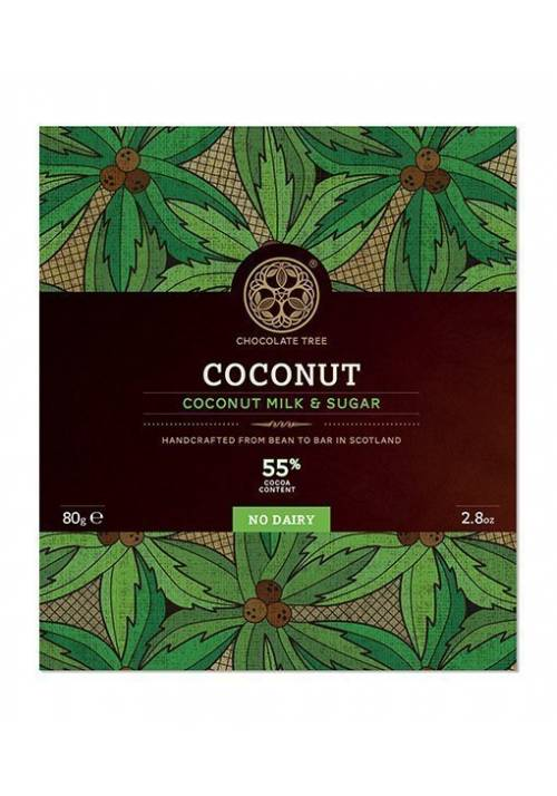 Chocolate Tree Coconut Milk & Sugar 55% (mleko kokosowe i cukier kokosowy - duża wersja 80g)