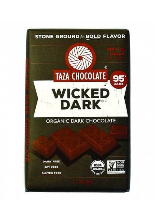 TAZA Chocolate 95% Wicked Dark