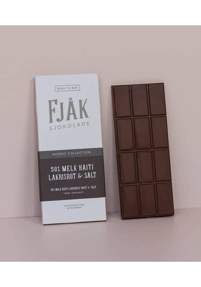 Fjåk Sjokolade Mleczna 45% z brązowym serem Brunost