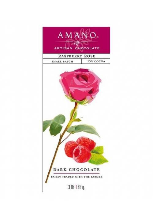 Amano Raspberry Rose 55% deserowa czekolada z maliną i różą