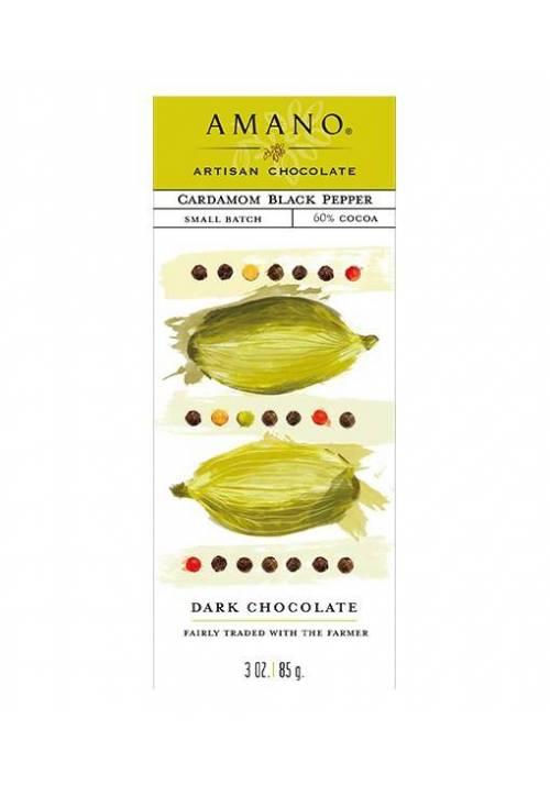 Amano Cardamom Black Pepper - ciemna czekolada z kardamonem i czarnym pieprzem