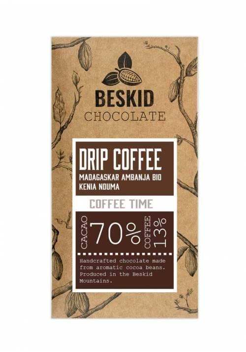 Beskid Chocolate Drip Coffee (czekolada z kawą) 70% kakao 13% kawy