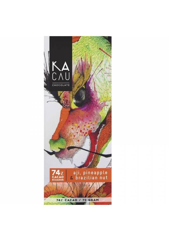 Kacau 74% chili, ananas, orzechy brazylijskie
