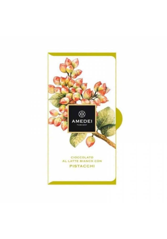 Amedei biała czekolada z pistacjami