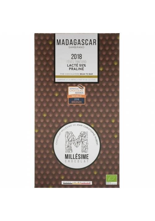 Millésime Madagaskar 55% BIO + pralina migdałowa
