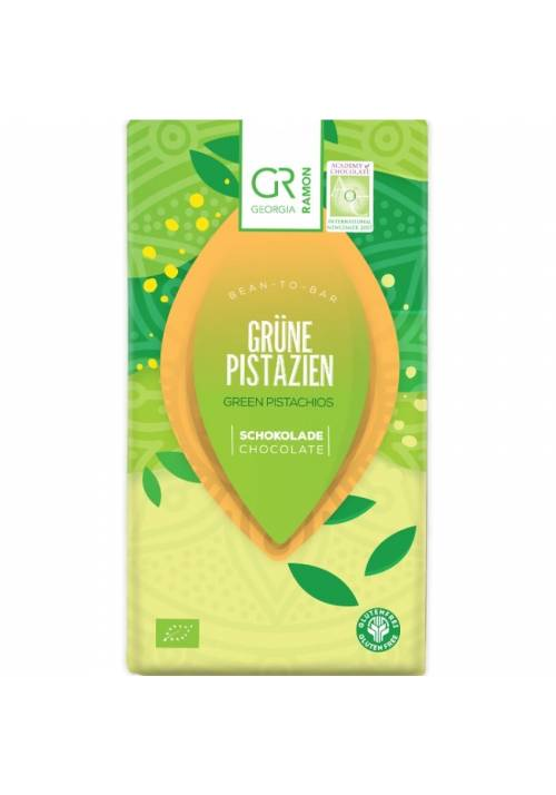 Georgia Ramon zielona czekolada z pistacjami