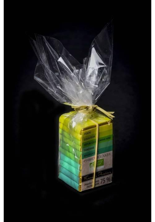 Pralus piramidka tropikalna BIO - zestaw neapolitanek 75% kakao