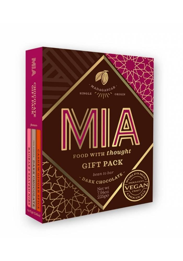 MIA - zestaw 3 ciemnych tabliczek z dodatkami