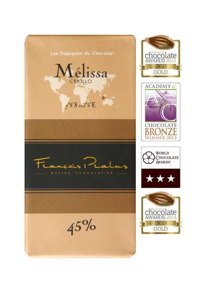 Pralus Melissa 45% czekolada ciemna mleczna