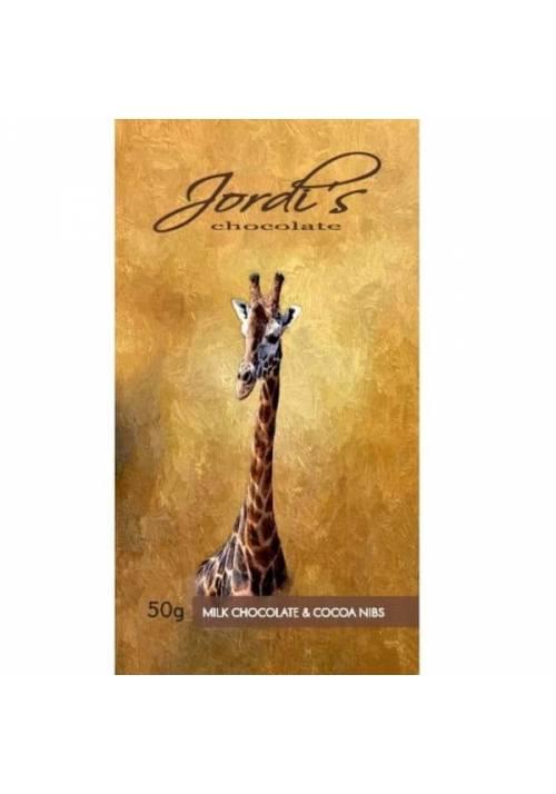 Jordi's Mleczna czekolada z nibsami